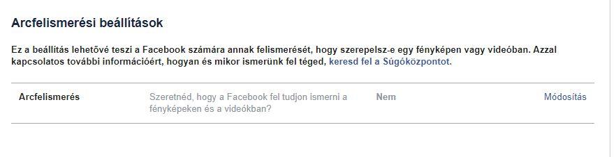Arcfelismerés van, pina felismerés nincs a Facebookon