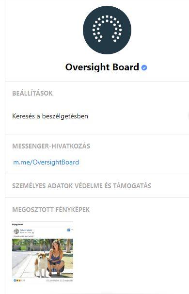 Facebook Oversight Board közösség